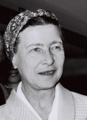 Portrait de Simone de Beauvoir