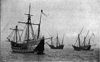 Dessin des trois caravelles de Christophe Colomb