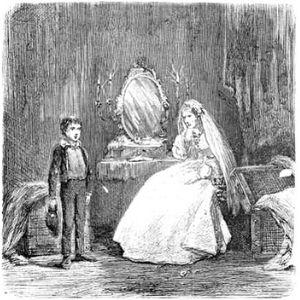 Dessin de Pip avec Miss Havisham