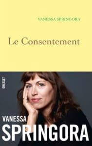 Couverture du livre de Vanessa Springora, Le consentement
