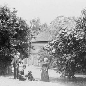 Photographie de Léon Tolstoï avec sa famille