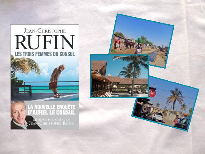 Livre de Jean-Christophe Rufin, Les trois femmes du consul, avec trois photos du Mozambique