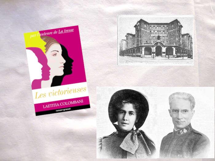 Couverture du livre de Laetitia Colombani, avec trois photos : le Palsie de la Femme vers 1930, Blanche Peyron et Albin Peyron