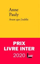 Couverture du livre de Anne Pauly, Avant que j'oublie