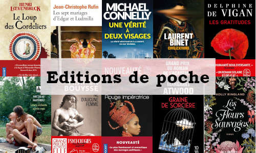 Présentation de dix couvertures de livres en édition de poche parus récemment.