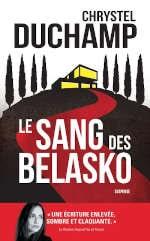Couverture du livre de Chrystel Duchamp, Le sang des Belasko
