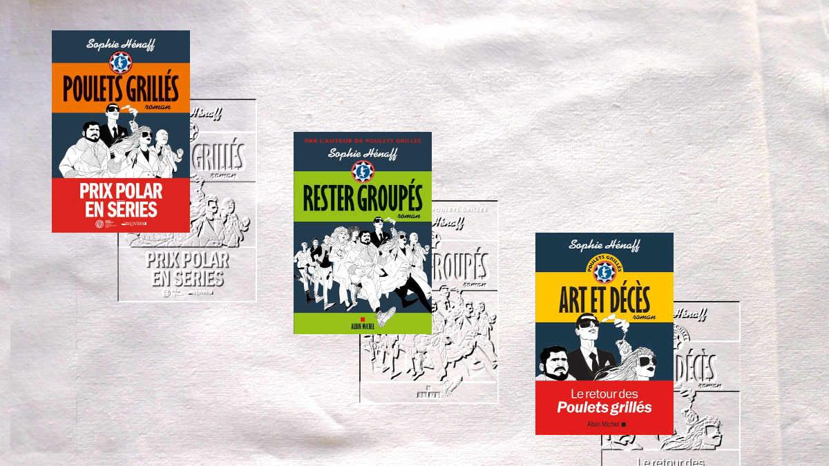 Livres de la série Poulets grillés, Rester groupés, Art et décès