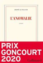 Couverture du livre d'Hervé Le Tellier, L'anomalie