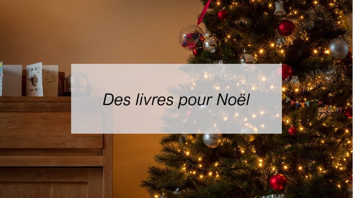 Une photo de sapin de Noël avec un texte : Des livres pour Noël
