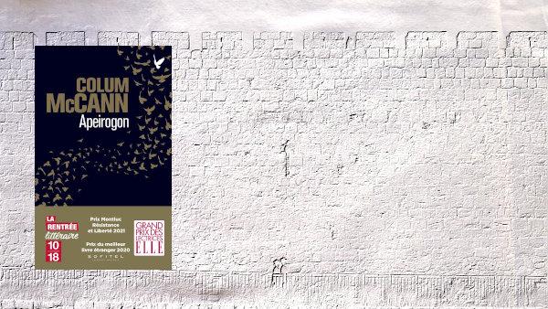 A l'arrière-plan, mur de Jérusalem, au premier plan, la couverture du livre de Colum McCann, Apeirogon
