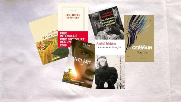 Couvertures de livres ayant remporté le prix Goncourt des lycéens